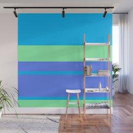 Retro Blue Surf Wall Mural