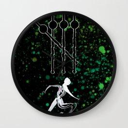 A Tarot of Ink 04 of Wands Wall Clock