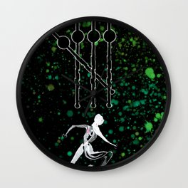 A Tarot of Ink 04 of Wands Wall Clock