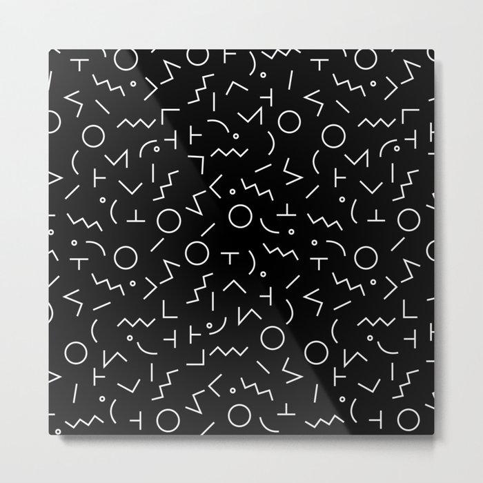 MEMPHIS II ((white on black)) Metal Print