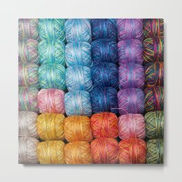Tell me a Yarn Metal Print