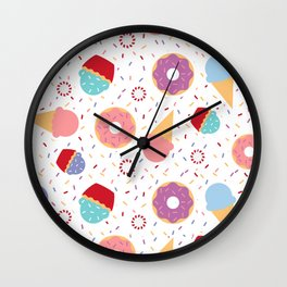 Donuts party Wall Clock