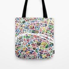 A map of Paris Tote Bag