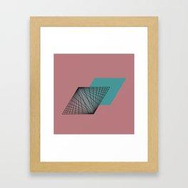 Triangular Grid - Sacred Geometry Framed Art Print