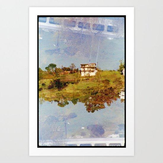 islands 3 (35mm multi exposure) Art Print