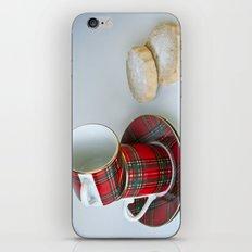 Tartan Coffee Cups & Scottish Shortbread iPhone & iPod Skin