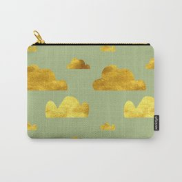Gold Clouds green Carry-All Pouch