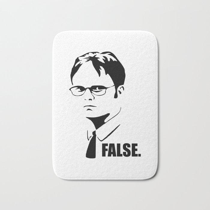 False funny office sarcastic quote Bath Mat