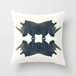 Siamese Rhinos.  Throw Pillow
