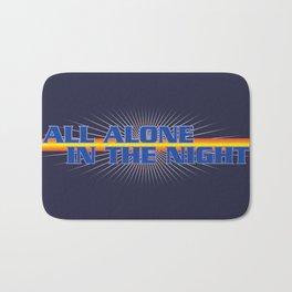 All Alone In The Night Bath Mat