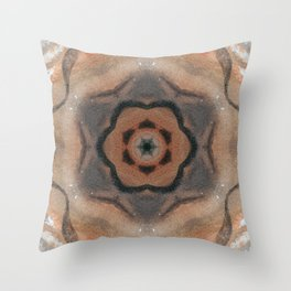 Bushfire Gum Medallion 8 Throw Pillow