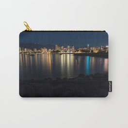 Night Time City Long Exposure on the Beach Carry-All Pouch