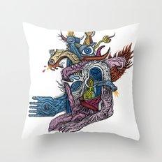 New god makina - Print available!! Throw Pillow