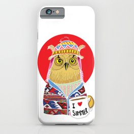Summer Owl iPhone Case