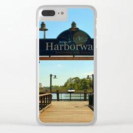 Harborwalk Sign Clear iPhone Case