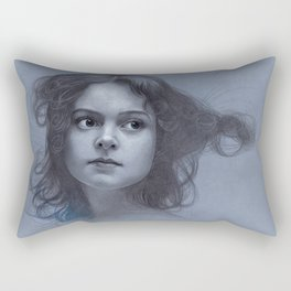 Behind greyness - pencil drawing on paperboard Rectangular Pillow