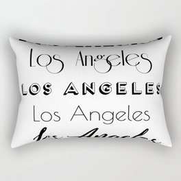 Los Angeles City Quote Sign, Digital Download, Calligraphy Text Art, Large Printable Photography Rectangular Pillow