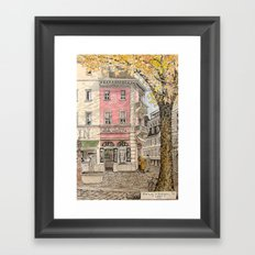 Autumn in Freiburg Framed Art Print