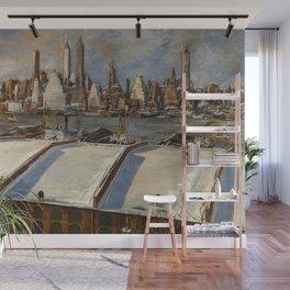 American Masterpiece 'Manhattan Skyline' by John Cunning Wall Mural