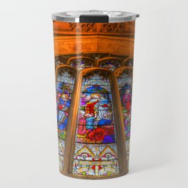 Stained Glass Abbey Window Travel Mug