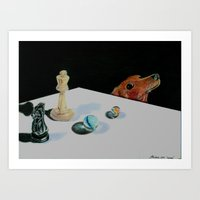 games Art Prints featuring Games by Dan Cordova