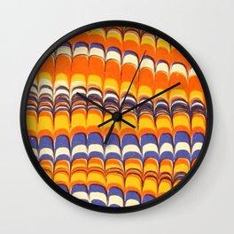 Scallops in Orange and Blue Wall Clock