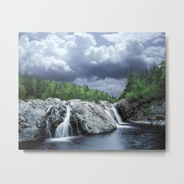 Falls at the Aguasabon River Mouth in Ontario Canada Metal Print