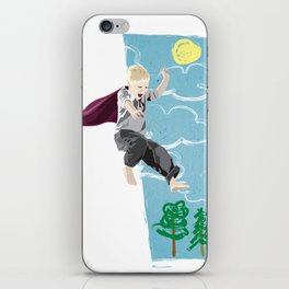The man who has no imagination has no wings. iPhone Skin