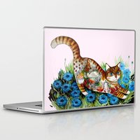 russian Laptop & iPad Skins featuring Russian cat by oxana zaika