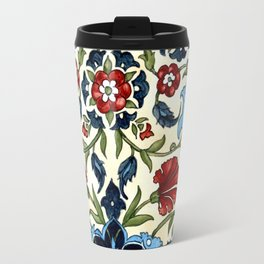Tile with Carnations Travel Mug