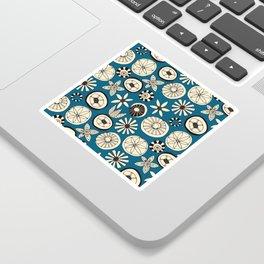 sumer flowers blue Sticker