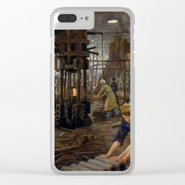 'The Munitions Girls' oil painting, England, 1918 Clear iPhone Case