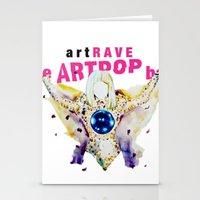 artrave Stationery Cards featuring ARTPOP artRAVE by KS Art
