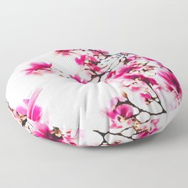 Pink blossoms watercolor painting #1 Floor Pillow
