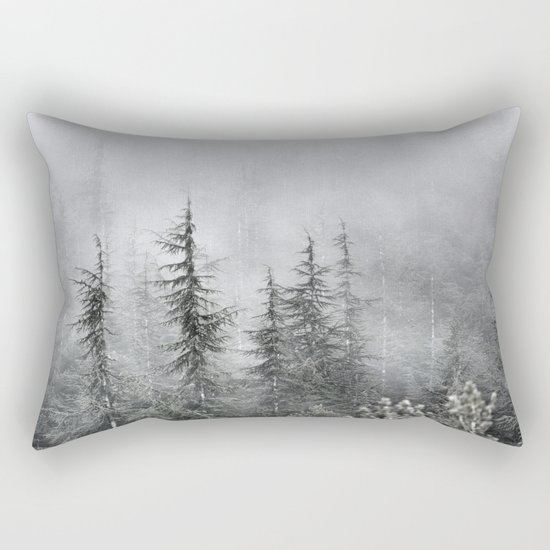 """""""Into The Foggy Woods"""" Wander. Yesterday at the mountains Rectangular Pillow"""