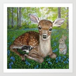 Forest Friends Art Print