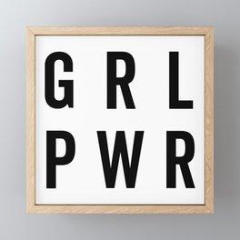 GRL PWR / Girl Power Quote Framed Mini Art Print