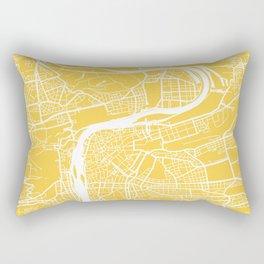 Prague map yellow Rectangular Pillow