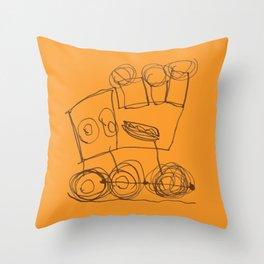 Ben's Monster Trucks no.3 Throw Pillow