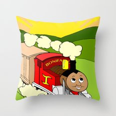 Bonifacio The Train Throw Pillow