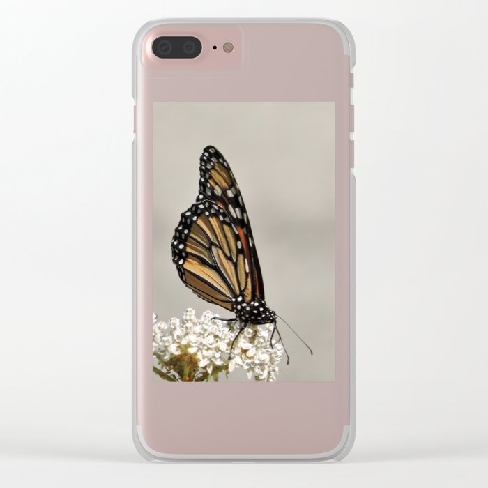 A Fine, Upstanding Monarch Clear iPhone Case