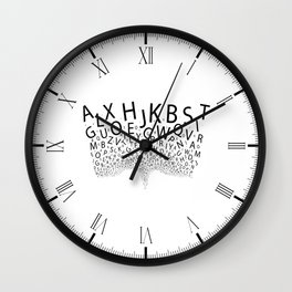 Spouting Letters Wall Clock