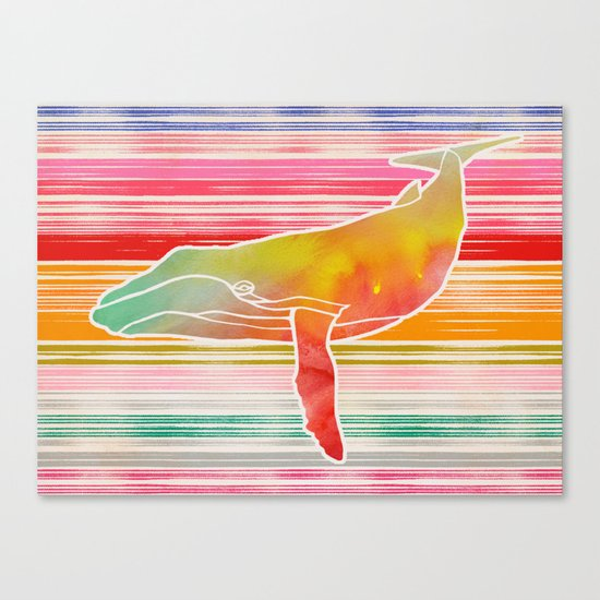 Whale Collage by Garima and Jacqueline Canvas Print