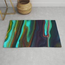 Abstract Visual Design - Digital Marble Art Rug