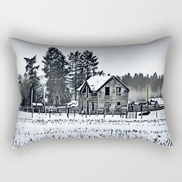 A Hazy Shade Of Winter  - Graphic 3 Rectangular Pillow