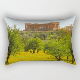 Agrigento and the Valley of the Temples Rectangular Pillow