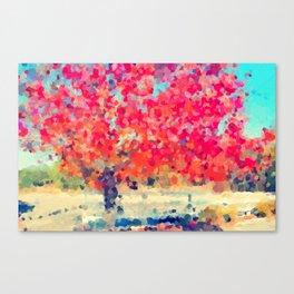 Orange Tree Watercolor digital Canvas Print