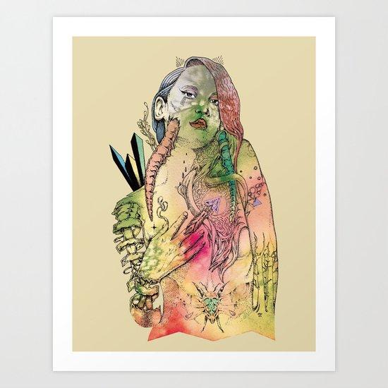 Beetle Queen Art Print