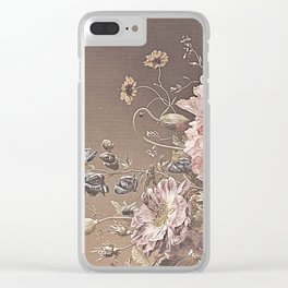 Pastel Bouquet with Peonies Clear iPhone Case