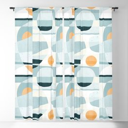 Del Mar Modern Abstract Geometric Pattern Blackout Curtain